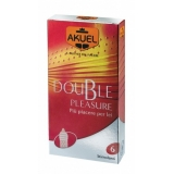 AKUEL DOUBLE PLEASURE profilattici 6 pz