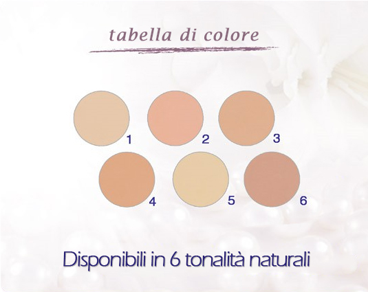 Tabella colori Covermark luminous conpact powder