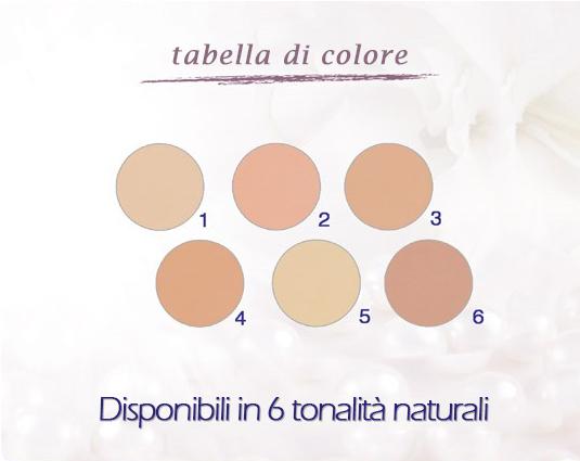 Tabella colori Covermark luminous conpact powder