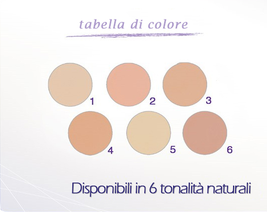 Tabella di colore covermark eliminate compact powder